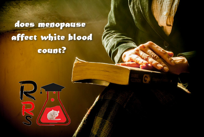 does menopause affect white blood count