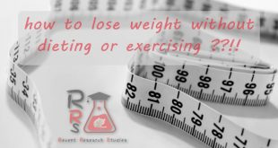 how to lose weight without dieting or exercising